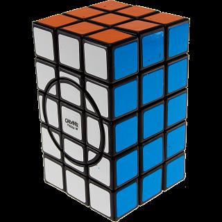 3x3x5 Semi-Super Cuboid (opposite circles) - Black Body