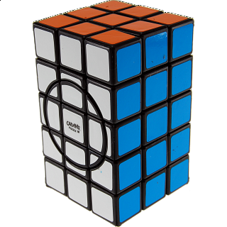 3x3x5 Semi-Super Cuboid (opposite circles) - Black Body