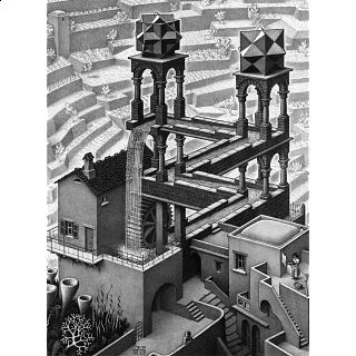M.C. Escher: Waterfall