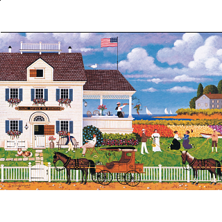 Charles Wysocki: Tea by the Sea