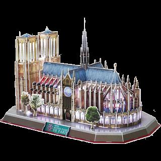 Notre Dame de Paris - LED Lit - 3D Jigsaw Puzzle