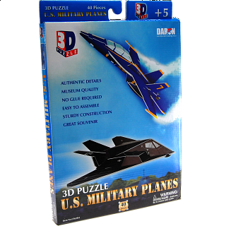 U.S. Military Planes - 3D Jigsaw Puzzle