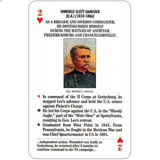 Famous Generals of the Civil War - Card Game Deck