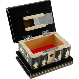 Romanian Puzzle Box - Medium Black