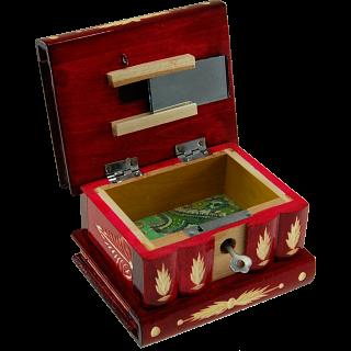 Romanian Puzzle Box - Medium - Red