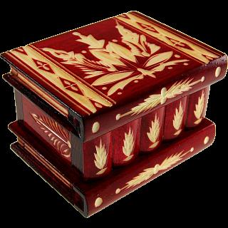 Romanian Puzzle Box - Medium Red
