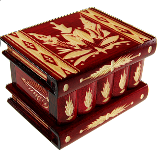 Romanian Puzzle Box - Medium - Red
