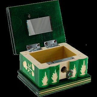 Romanian Puzzle Box - Small Green