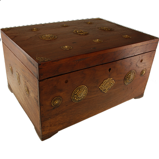 Wooden Puzzle Jewelry Box - Teak
