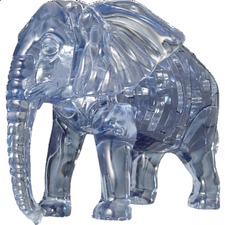Puzzle Solution for 3D Crystal Puzzle - Elephant