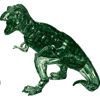 3D Crystal Puzzle Deluxe - T-Rex (Green)