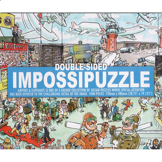 Double-sided Impossipuzzle: Airport & Elephants