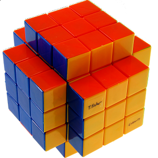 Calvin's 3x3x5 Cross-Cube with Fisher & Evgeniy logo Stickerless