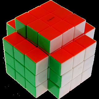 3x3x5 Temple-Cube with Evgeniy logo - Stickerless