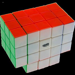 Calvin's 3x3x5 T-Cube with Evgeniy logo - Stickerless