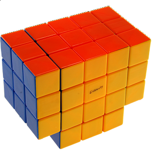 Calvin's 3x3x5 T-Cube with Evgeniy logo - Stickerless