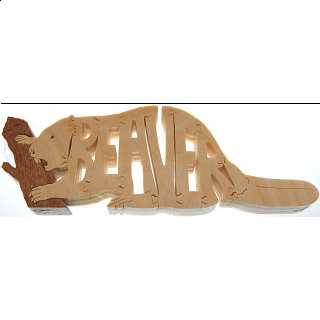 Beaver - Wooden Jigsaw