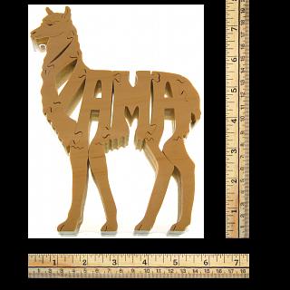 Llama - Wooden Jigsaw