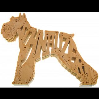 Schnauzer Dog - Wooden Jigsaw