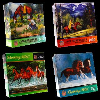 Jigsaw Puzzle Value Set - Horses