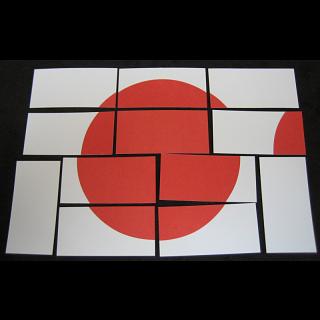 Hinomaru: Japanese Flag Puzzle (Card-stock Edition)
