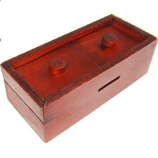 Secret Opening Box - Double Button Bank
