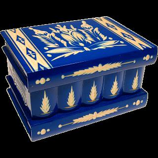 Puzzle Solution for Romanian Puzzle Box - Large Blue