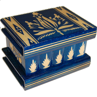 Puzzle Solution for Romanian Puzzle Box - Medium - Blue