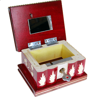 Romanian Puzzle Box - Small Red