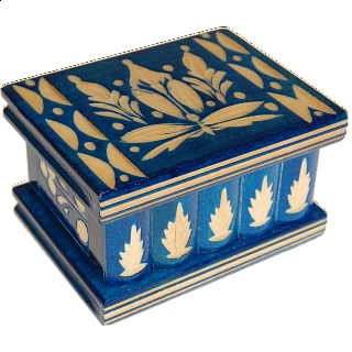 Puzzle Solution for Romanian Puzzle Box - Small Blue