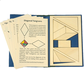 Puzzle Solution for Puzzle Booklet - Diagonal Tangrams
