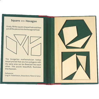 Puzzle Solution for Puzzle Booklet - Square to Hexagon