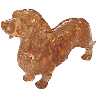 Puzzle Solution for 3D Crystal Puzzle - Dachshund