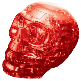 Puzzle Solution for 3D Crystal Puzzle - Red Skull