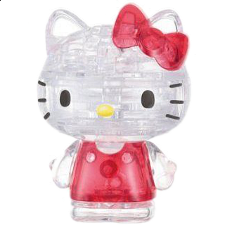 Puzzle Solution for 3D Crystal Puzzle - Hello Kitty Lovely