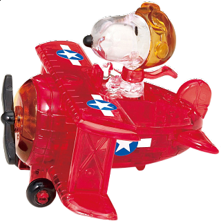 3D Crystal Puzzle - Snoopy Flying Ace