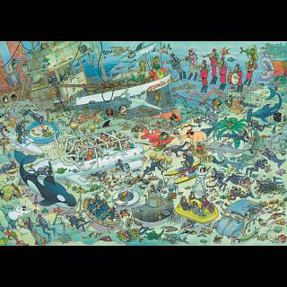 Jan van Haasteren Comic Puzzle - Deep Sea Fun