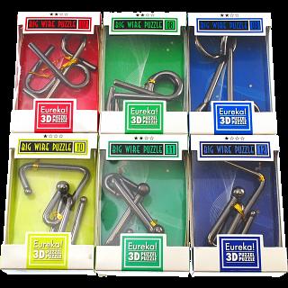 Big Wire 3D Puzzles - #7 - 12 - Set of 6 puzzles