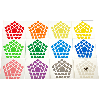 Cube4You Gigaminx Sticker Set
