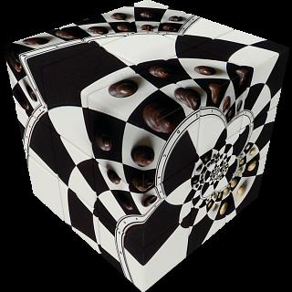 V-CUBE 3 Flat (3x3x3): Chessboard Illusion