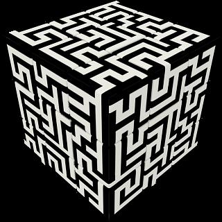 V-CUBE 3 Flat (3x3x3): Maze
