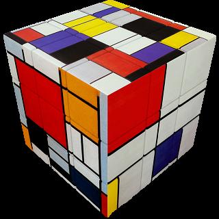 V-CUBE 3 Flat (3x3x3): Mondrian
