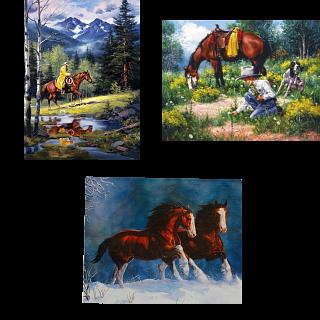 Jigsaw Puzzle Set - Horses