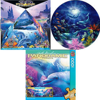 Jigsaw Puzzle Set - Dolphins