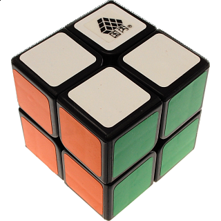 Type C WitTwo II 2x2x2 Magic Cube Black Body for Speed Cubing