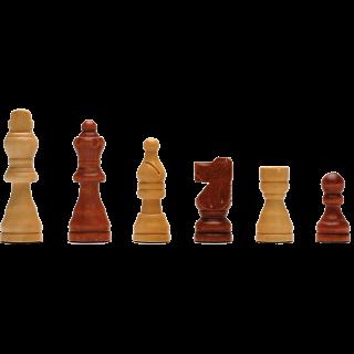 Wood Folding Chess Set - 11 inch Walnut
