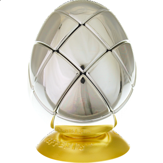 Metalised Egg 3x3x3 - Silver