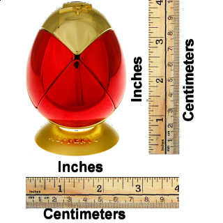 Metalised Egg 2x2x2 - Red & Gold