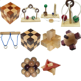.Level 8 - a set of 10 wood puzzles
