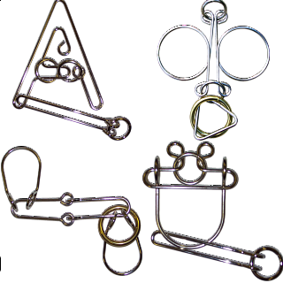 .Level 7 - a set of 4 wire puzzles
